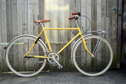 retro fiets Humphrey geel