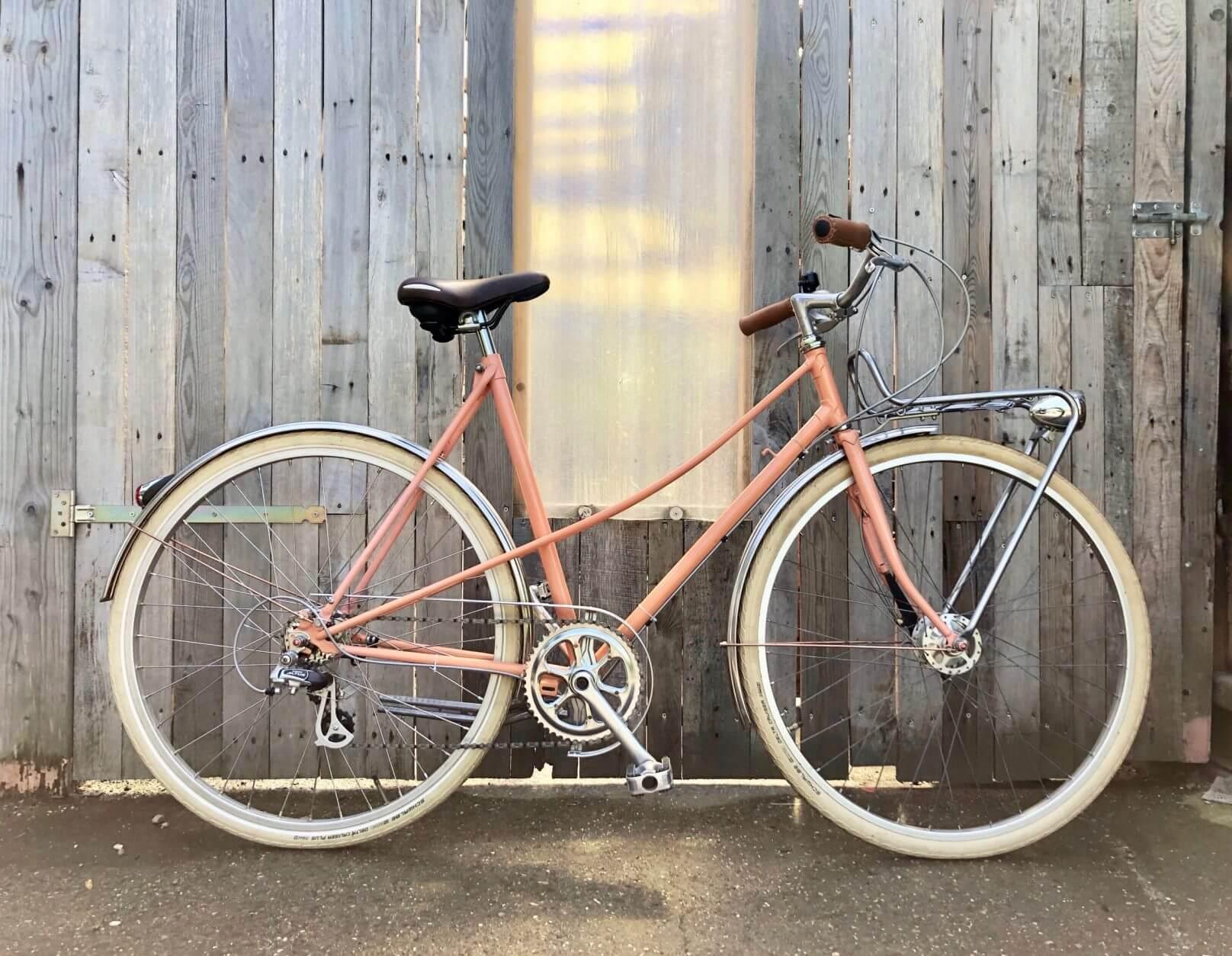 Novi retro fiets zalmroze