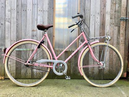 roze margo retro damesfiets